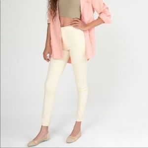 American Apparel pale yellow easy jeans XS